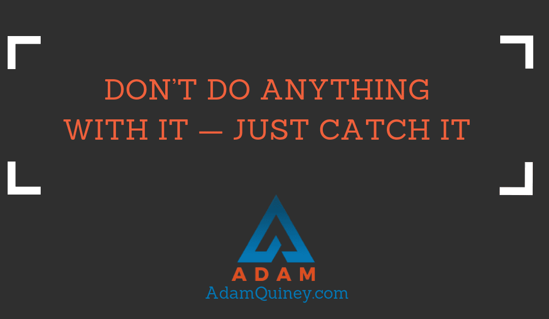 Don't Do Anything With It — Just Catch It