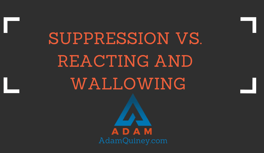 Suppression vs.  Reacting and  Wallowing